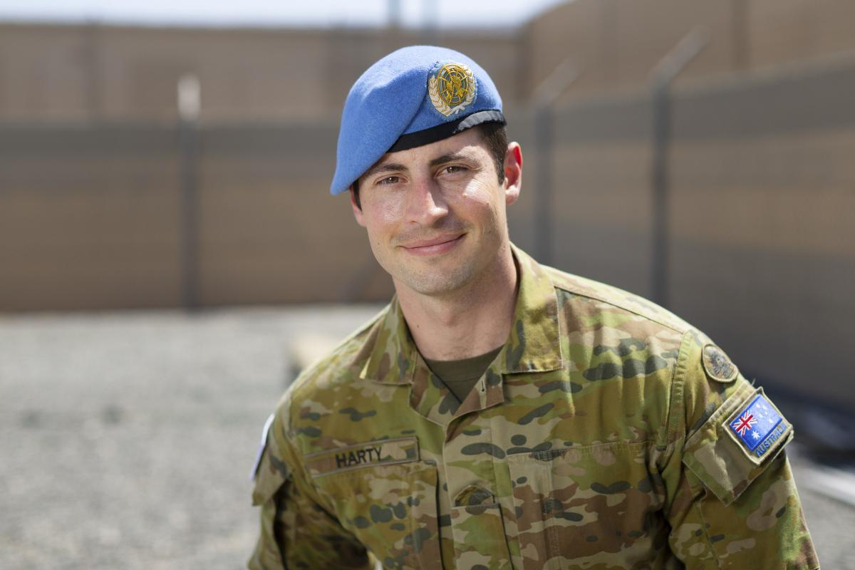 Major David Harty is deployed on Operation Aslan. Photo: Corporal Tristan Kennedy