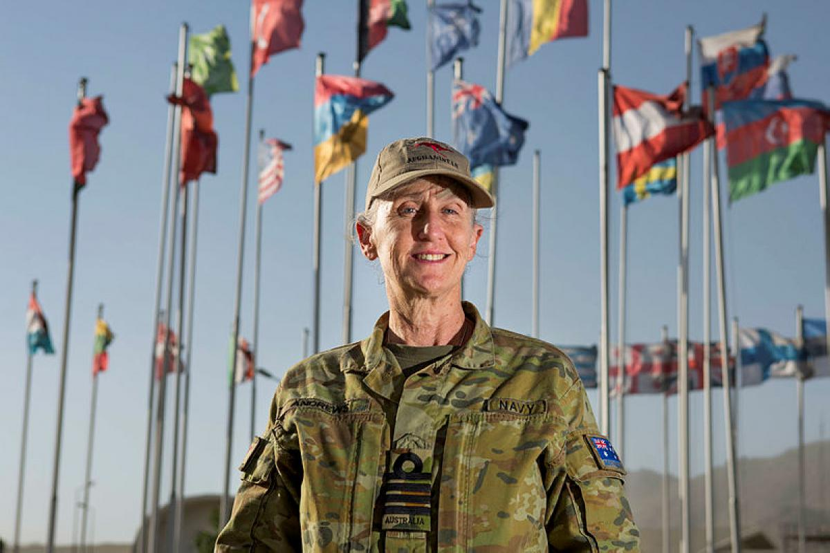 Royal Australian Navy officer Captain Anne Andrews is the Senior Gender Adviser to the NATO-led Resolute Support mission in Afghanistan. Photo: Corporal Chris Beerens