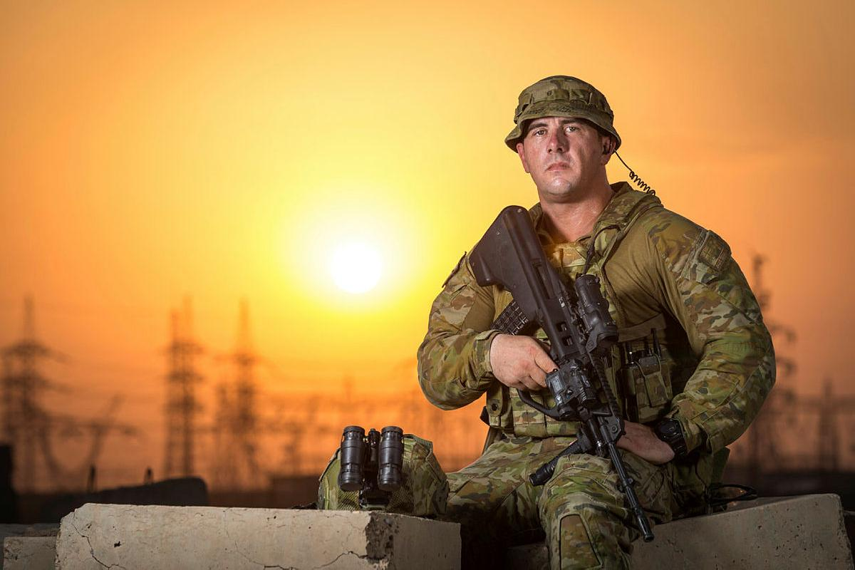 Private Peter Skinner, is currently deployed with Task Group Taji 9, at the Taji Military Complex, Iraq. Photo: Corporal Nunu Campos