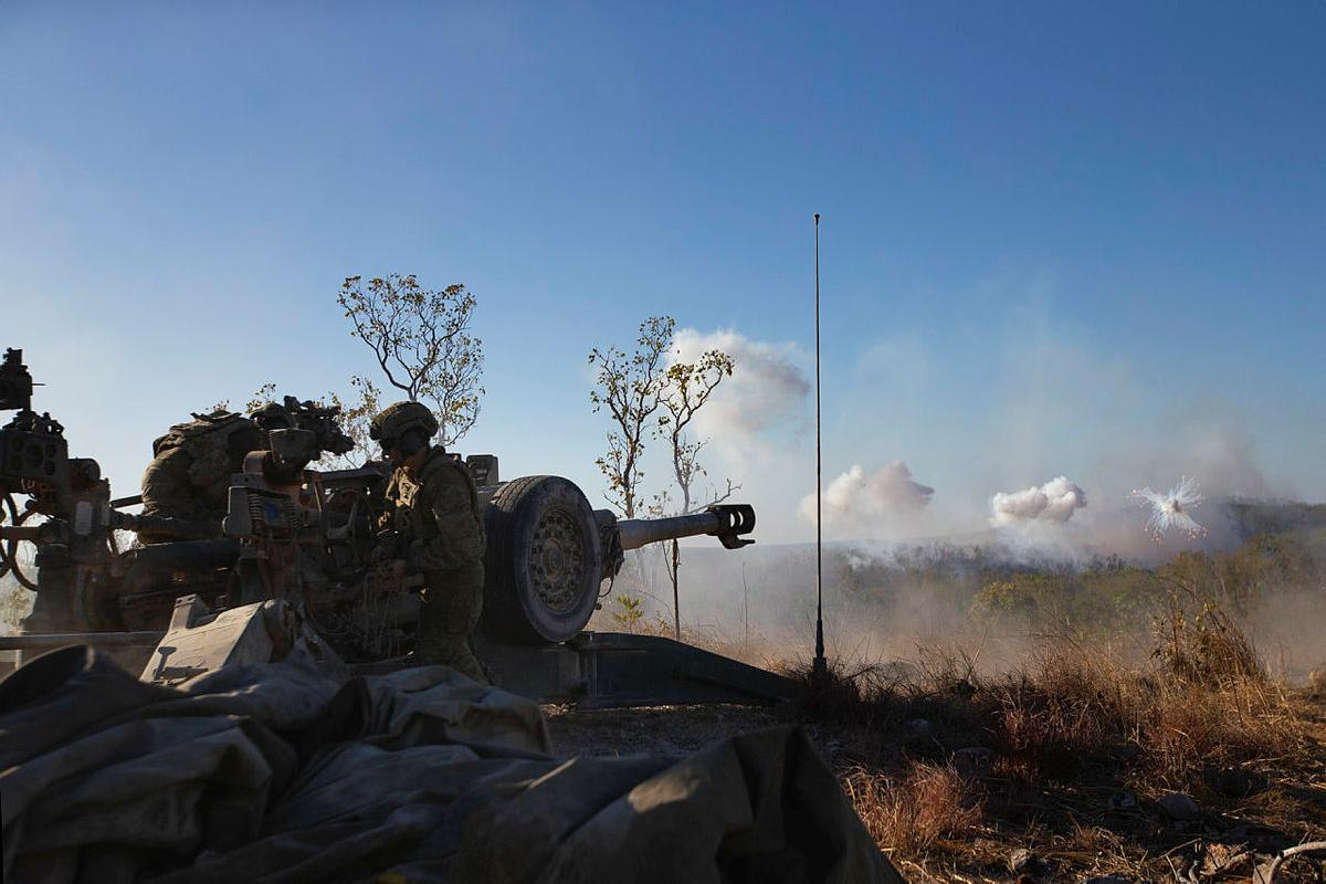 8th/12th Regiment fires a M777 lightweight howitzer during Exercise Koolendong at Mount Bundey Training Area. Photo: Private Nicole Dorrett