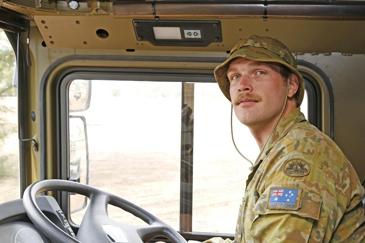 Private Amey is an HX77 heavy vehicle operator with 5 Transport Squadron and is serving in Operation Bushfire Assist.