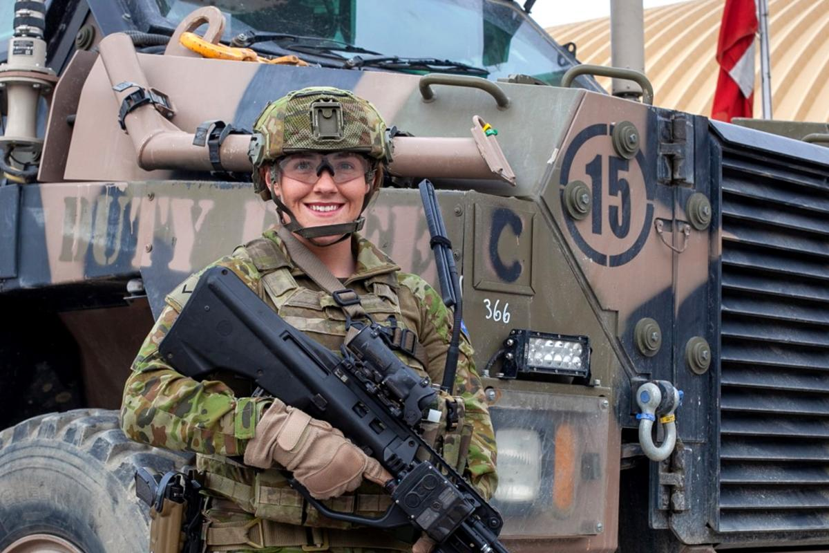 Australian Army soldier Lance Corporal Abbey Gray in Kabul, Afghanistan.
