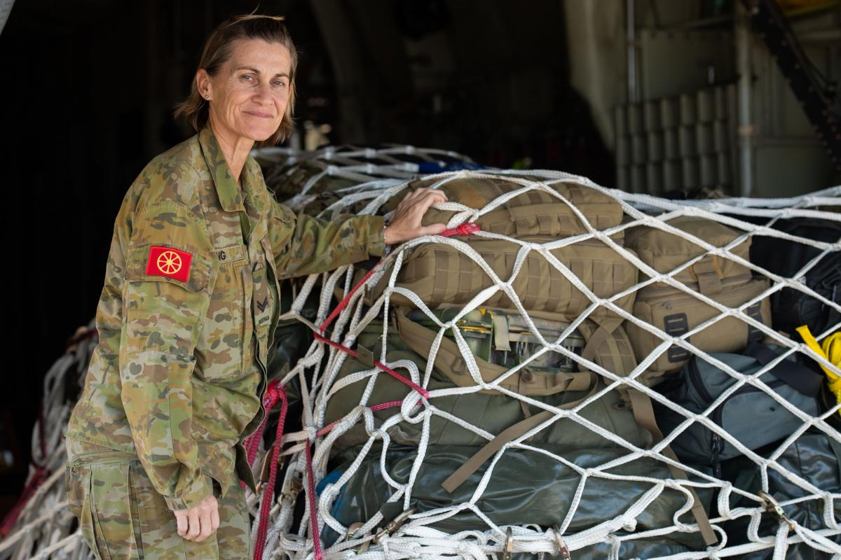 Corporal Julie Kling of the Joint Movement Control Office in Townsville is travelling to Mount Isa to help with Operation COVID-19 Assist. Photo: Trooper Jonathan Goedhart