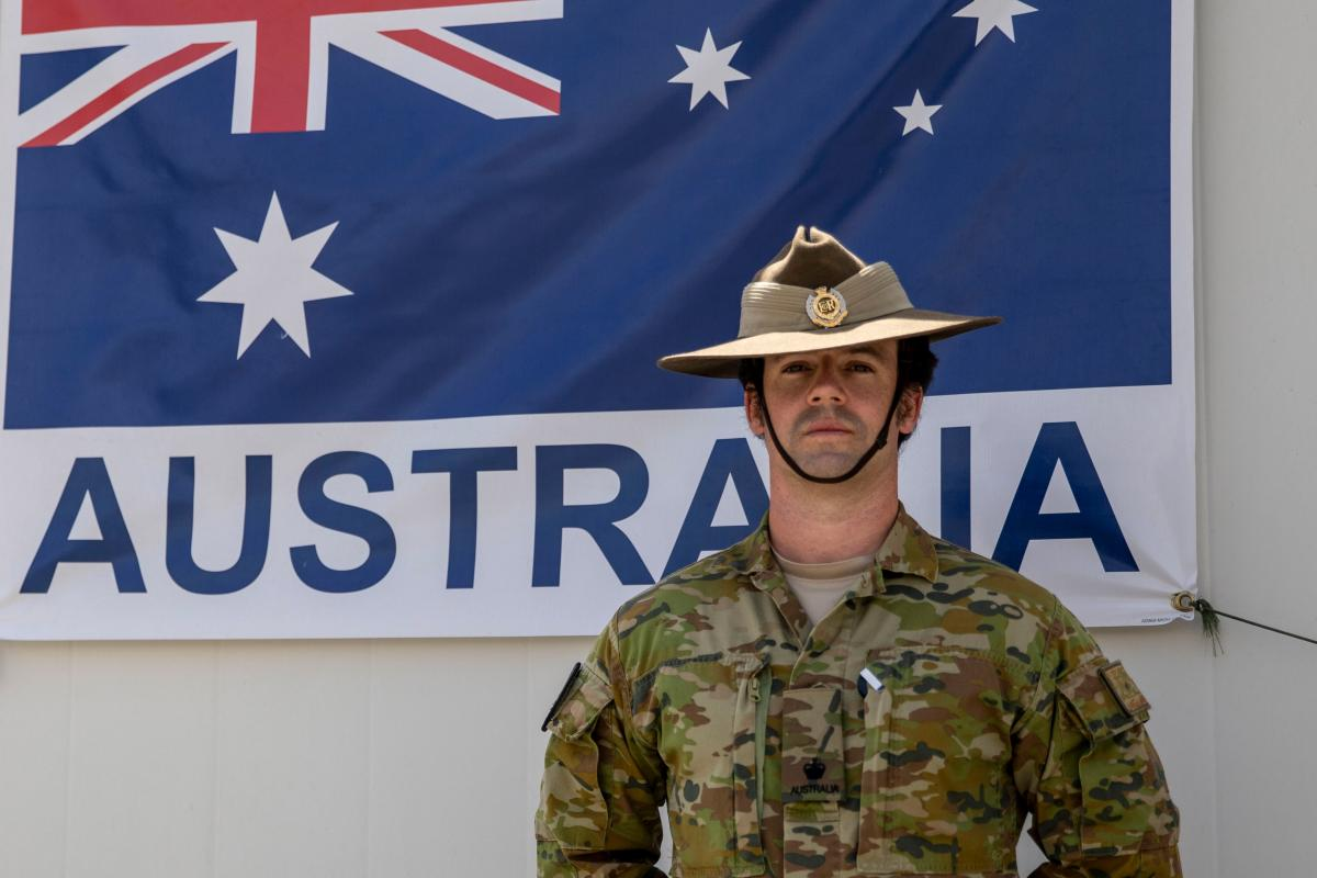 Major William Bell is deployed as a Future Operations planner in Kuwait.
