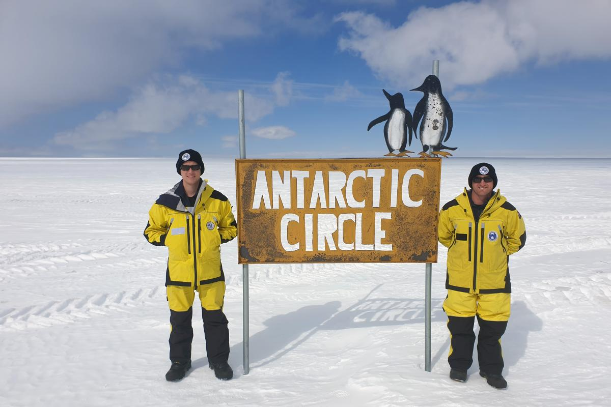 Lance Corporal Stewart Cox, left, and Sapper Luke Carey while on Operation Southern Discovery in Antarctica.