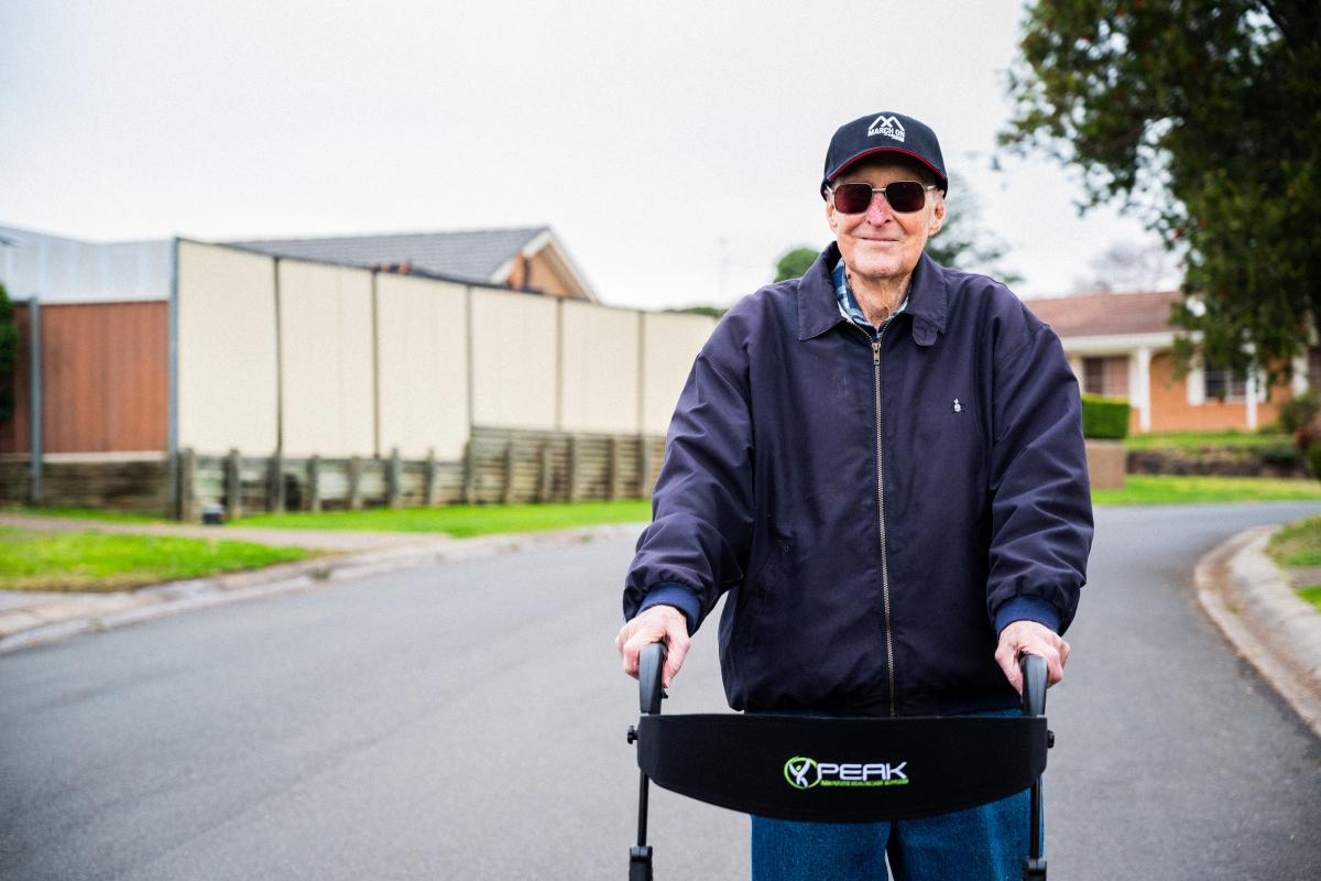 Bert Le-Merton is walking 96km to support contemporary veterans.