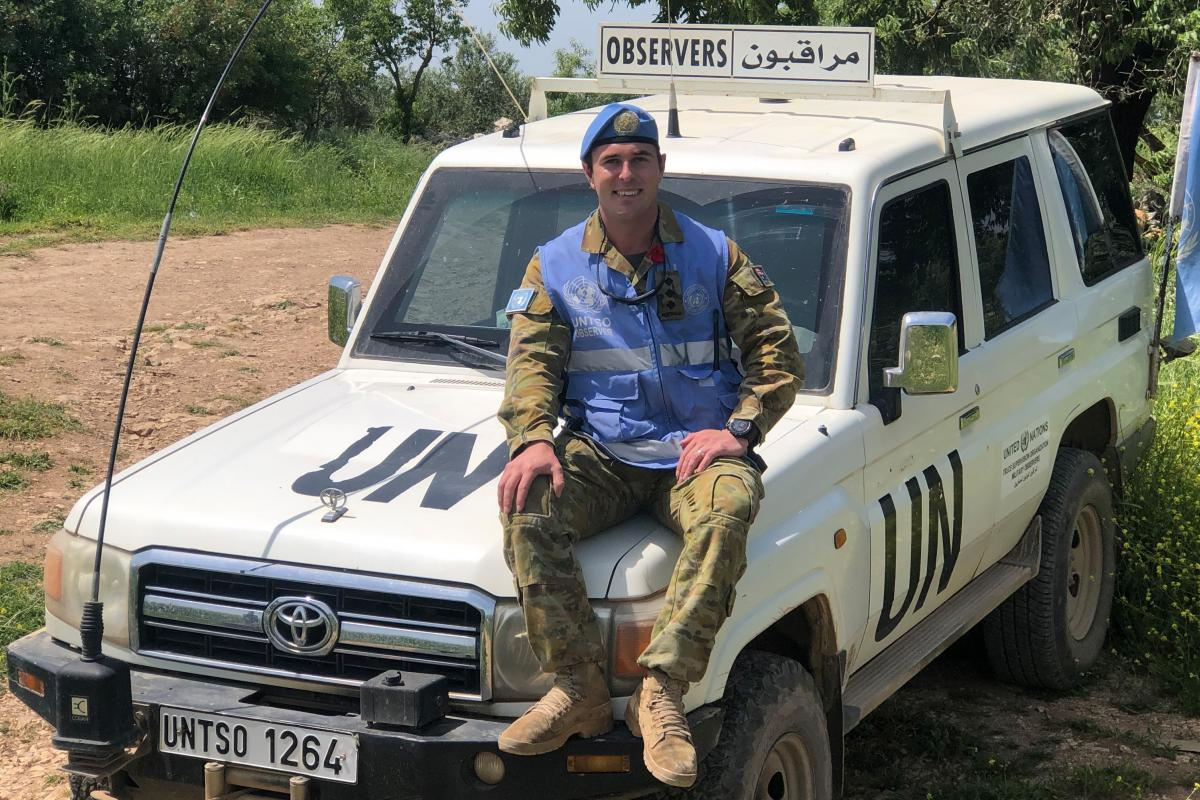 Captain Justin Pacione in Southern Lebanon while deployed on Operation Paladin as a United Nations Military Observer to the United Nations Truce Supervision Organisation.