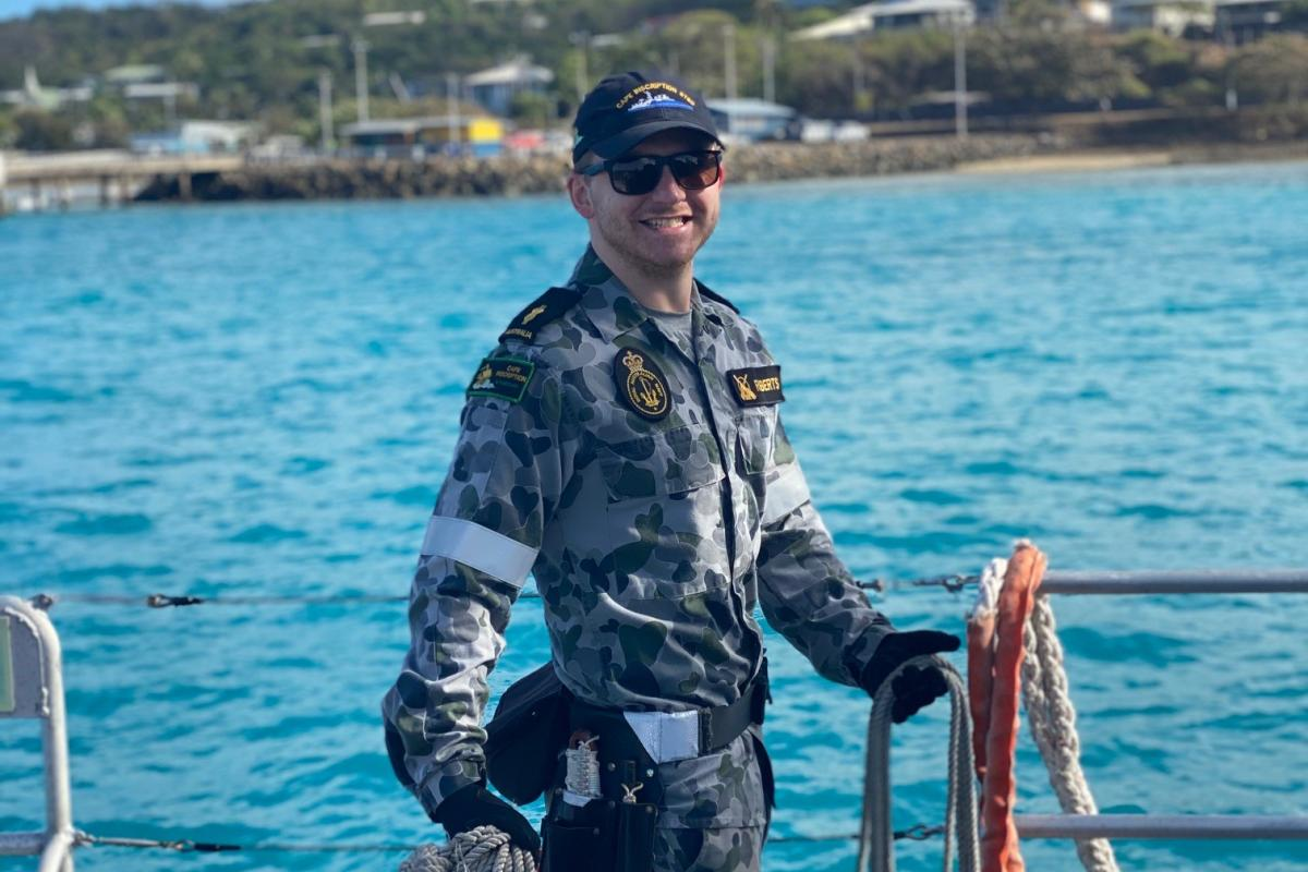 Able Seaman William Roberts says his love of the sea led him to join the Navy.