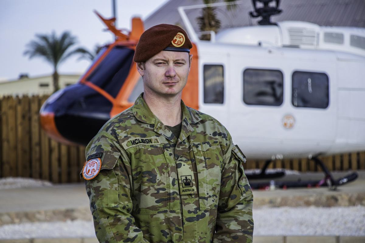 Warrant Officer Class Two Jason McLeish in Egypt.