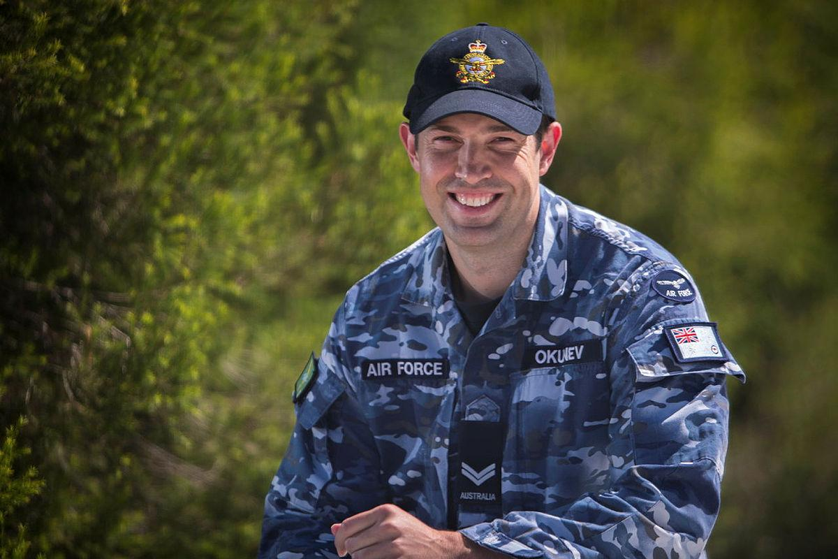 Corporal Leigh Okunev's work on a crucial aircraft navigation aid led to it being successfully restored to full operation. Photo: Sergeant Murray Staff