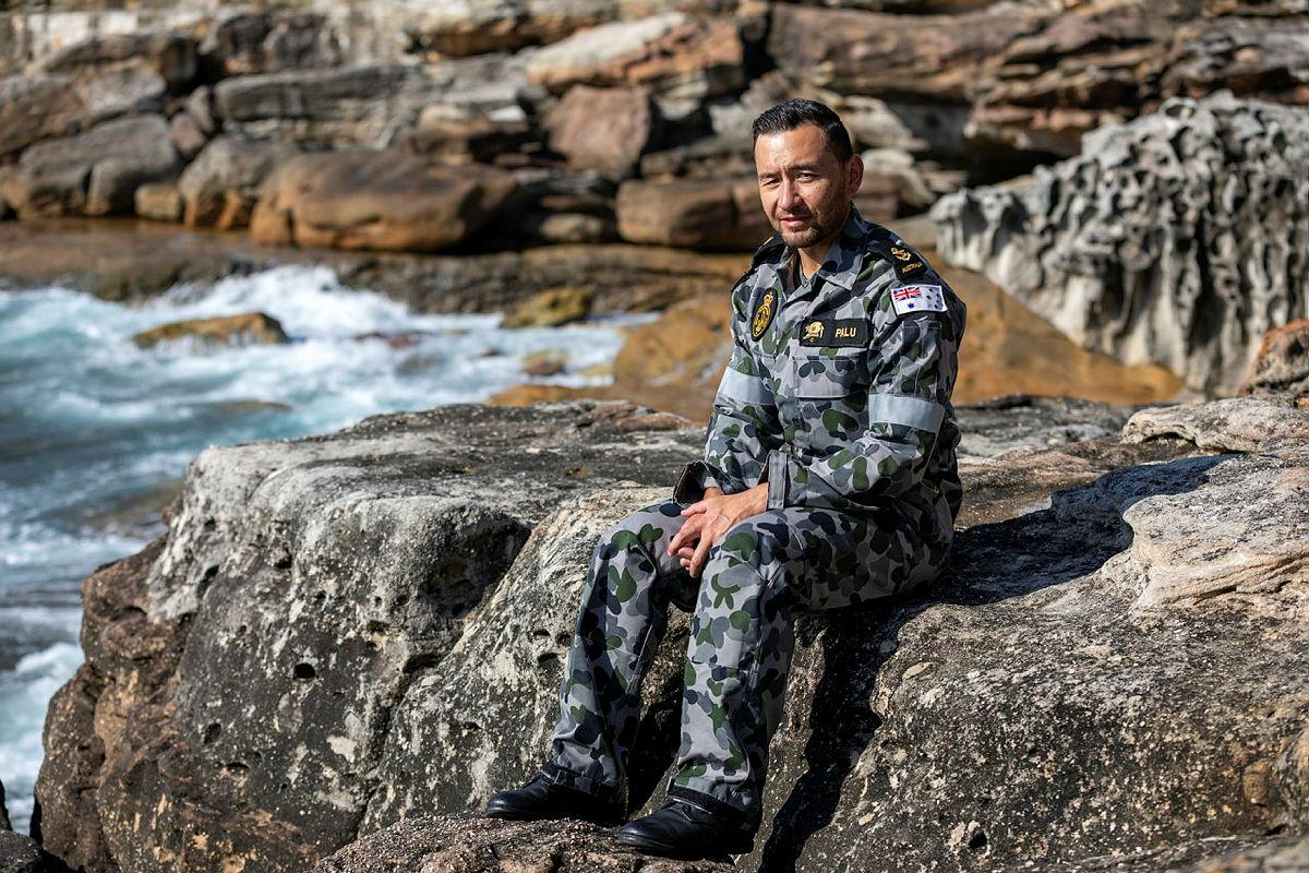 Leading Seaman Clearance Diver Steven Palu was awarded the Conspicuous Service Medal in the 2021 Australia Day honours. Photo: Leading Seaman Christopher Szumlanski