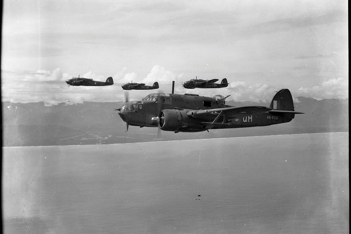The historic No. 100 Squadron was reformed on New Year's Day. Pictured is a Beaufort from the original squadron flying in 1945.