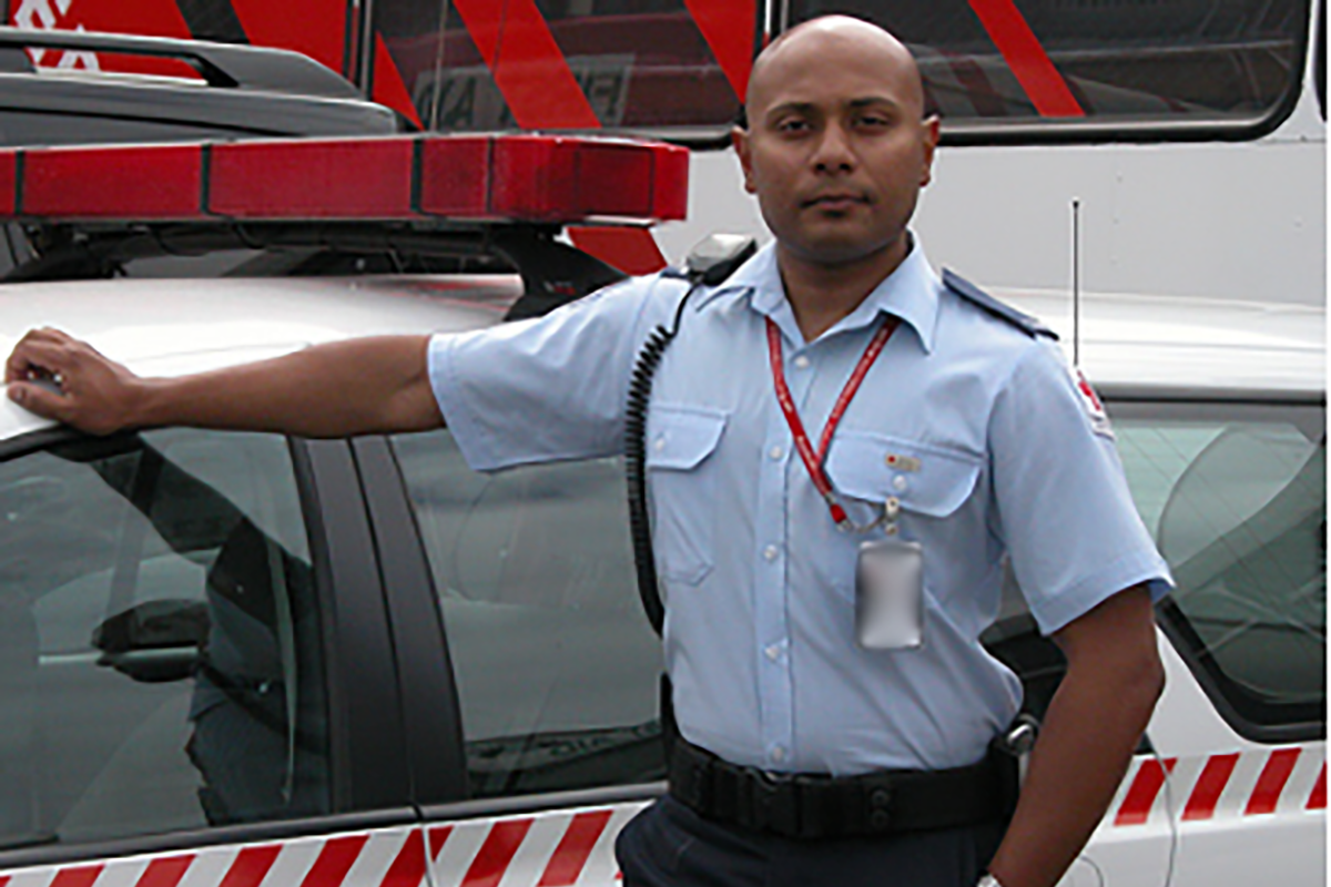 Army reservist Corporal Mohammed Alam volunteers with the Australian Red Cross.