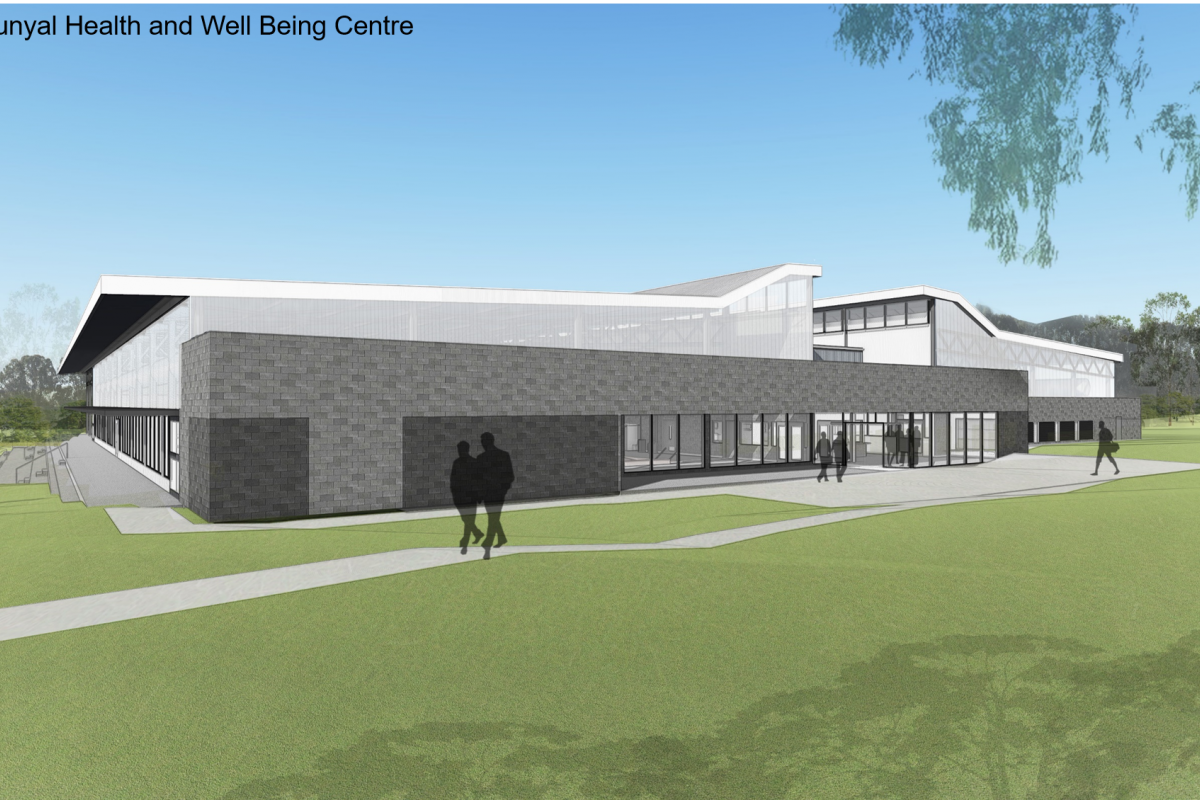 An artist's rendering of the new Puckapunyal Health and Wellbeing Centre.