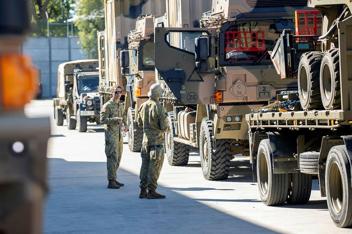 Australian Army soldiers prepare to deploy to Operation NSW Flood Assist 2021. Photo: Corporal Nicole Dorrett