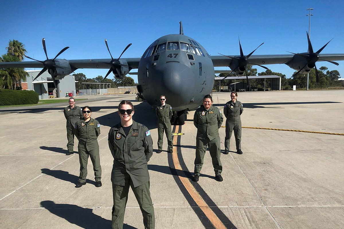 The all-female crew of No. 3 Aeromedical Evacuation Squadron deployed to provide additional aeromedical evacuation capability after Tropical Cyclone Seroja.
