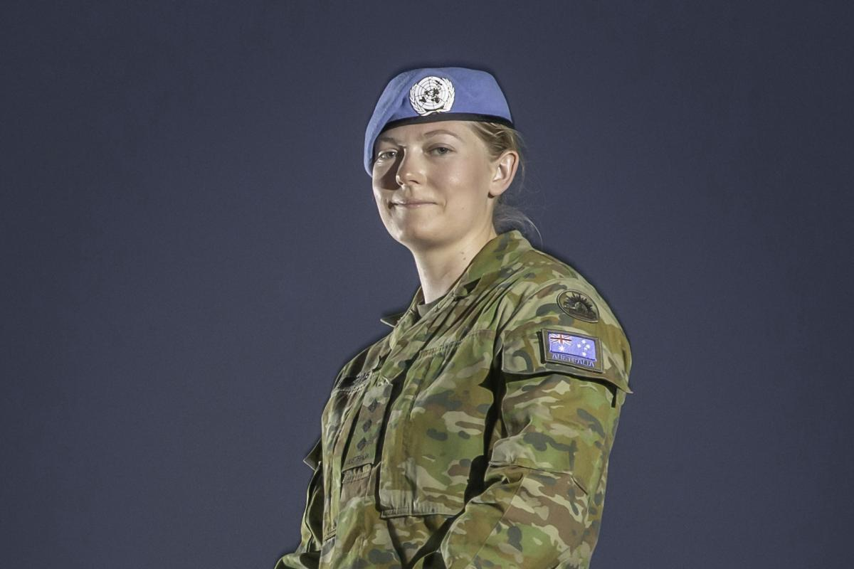 Captain Katherine Higgins prepares for deployment as a UN Peacekeeper on Operation Paladin. Photo: Sergeant Ben Dempster