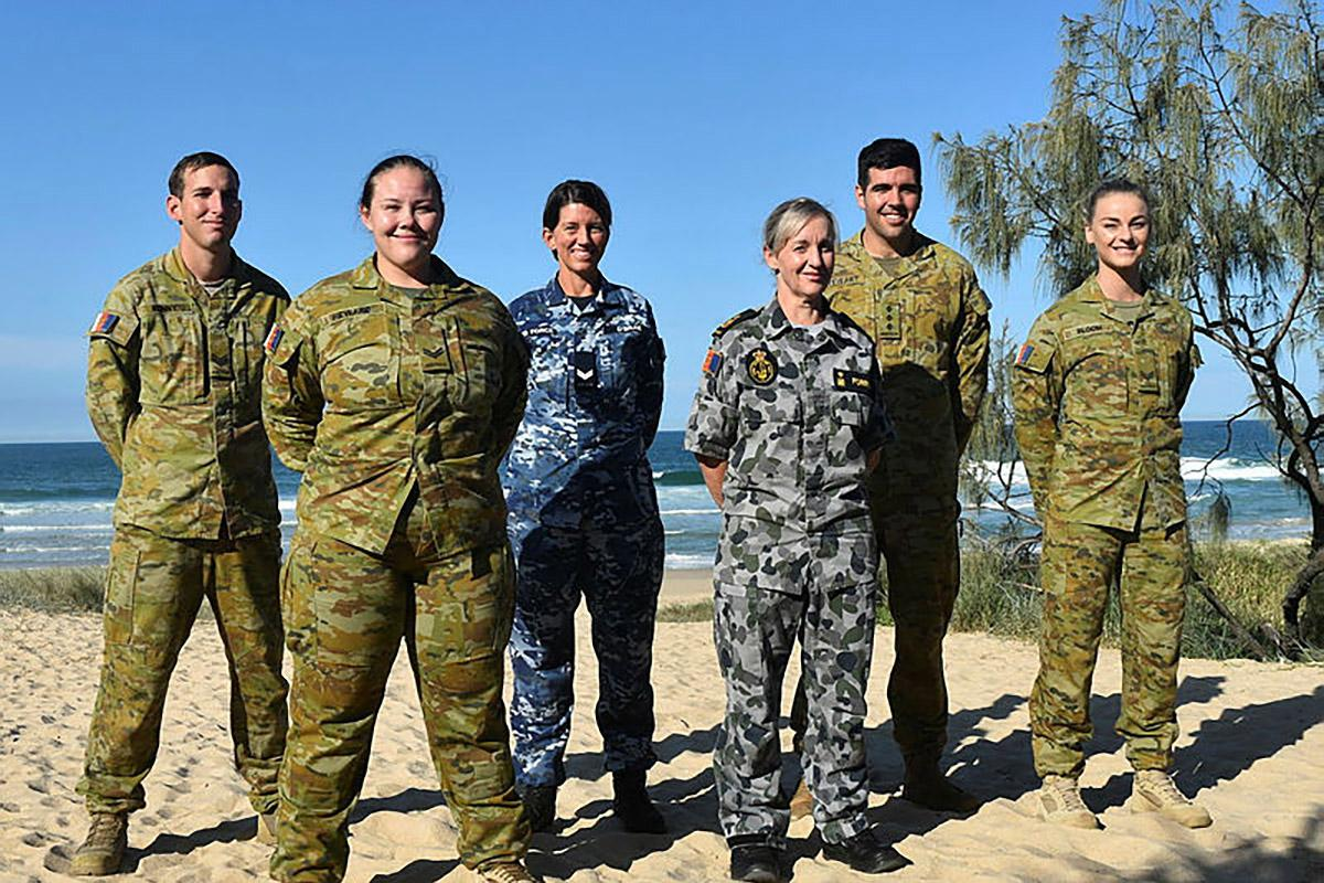 Six ADF members are in the Sunshine Coast working in the Defence Force Recruiting Centre – Maroochydore.