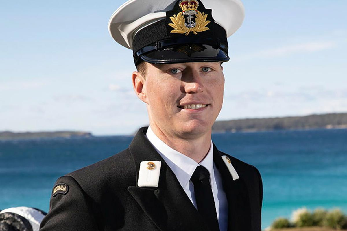 New Entry Officers Course 64 graduate and aspiring pilot Sub Lieutenant Ian Alder at HMAS Creswell, Jervis Bay, New South Wales. Photo: Petty Officer Justin Brown