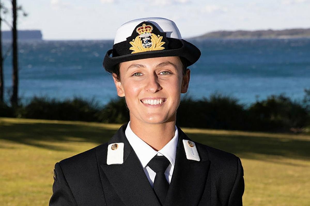 New Entry Officers Course 64 graduate Midshipman Amanda Fowler at HMAS Creswell in Jervis Bay, New South Wales. Photo: Petty Officer Justin Brown