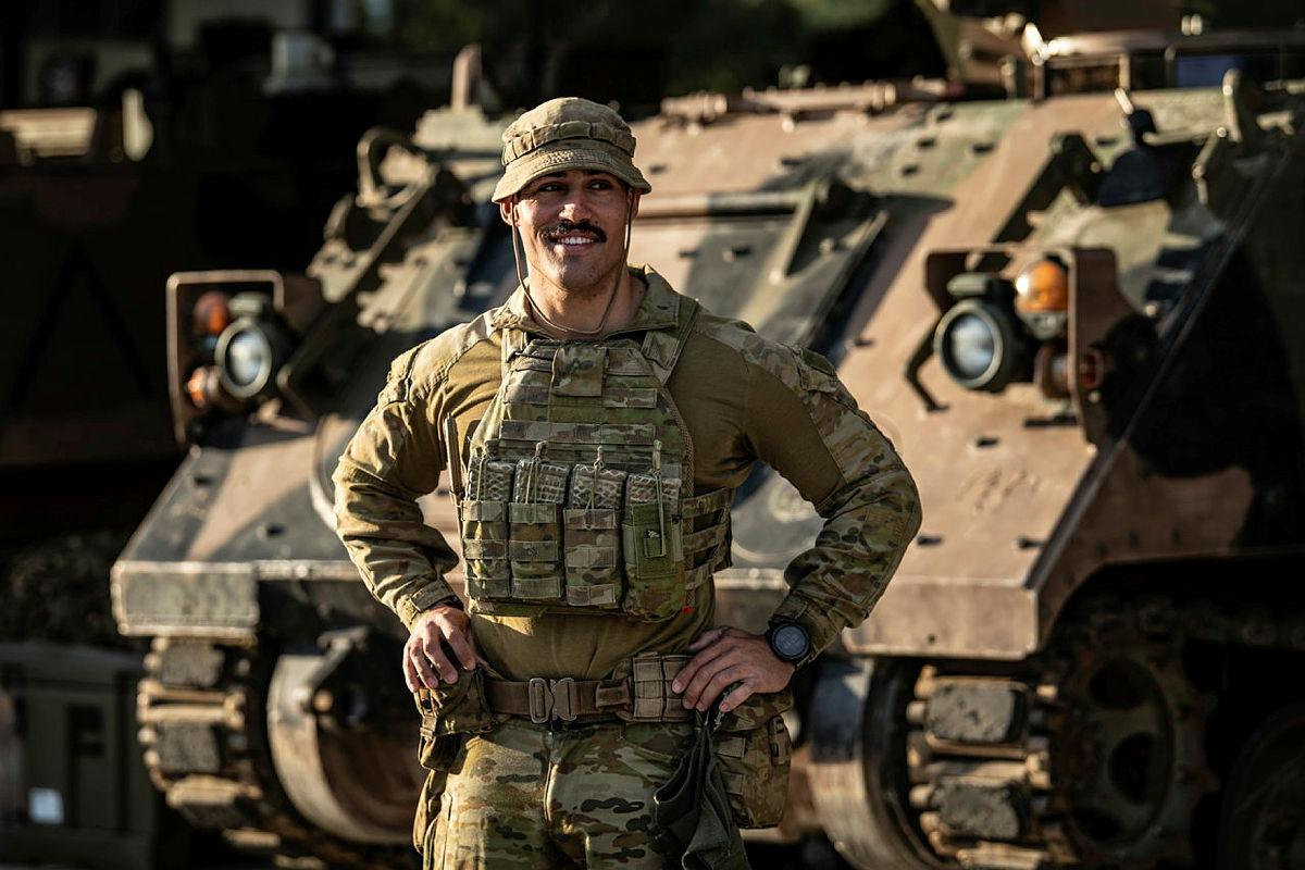 Private Tui Swann, from the 6th Battalion, Royal Australian Regiment, is preparing at Gallipoli Barracks, Brisbane, for Rotation 133 to Rifle Company Butterworth in Malaysia. Photo: Private Jacob Hilton