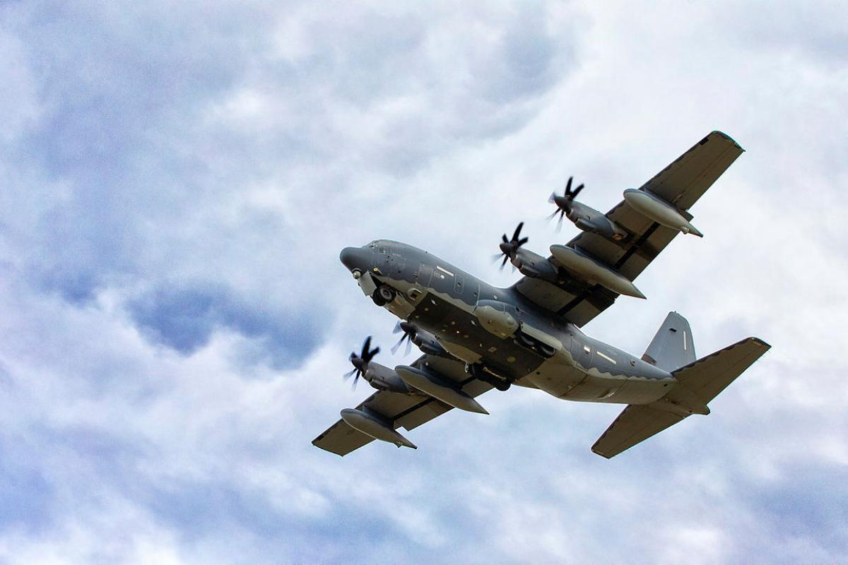 A United States Air Force 353rd Special Operations Group MC-130J Commando II passes over RAAF Base Richmond during Exercise Teak Action. Photo: Corporal David Said