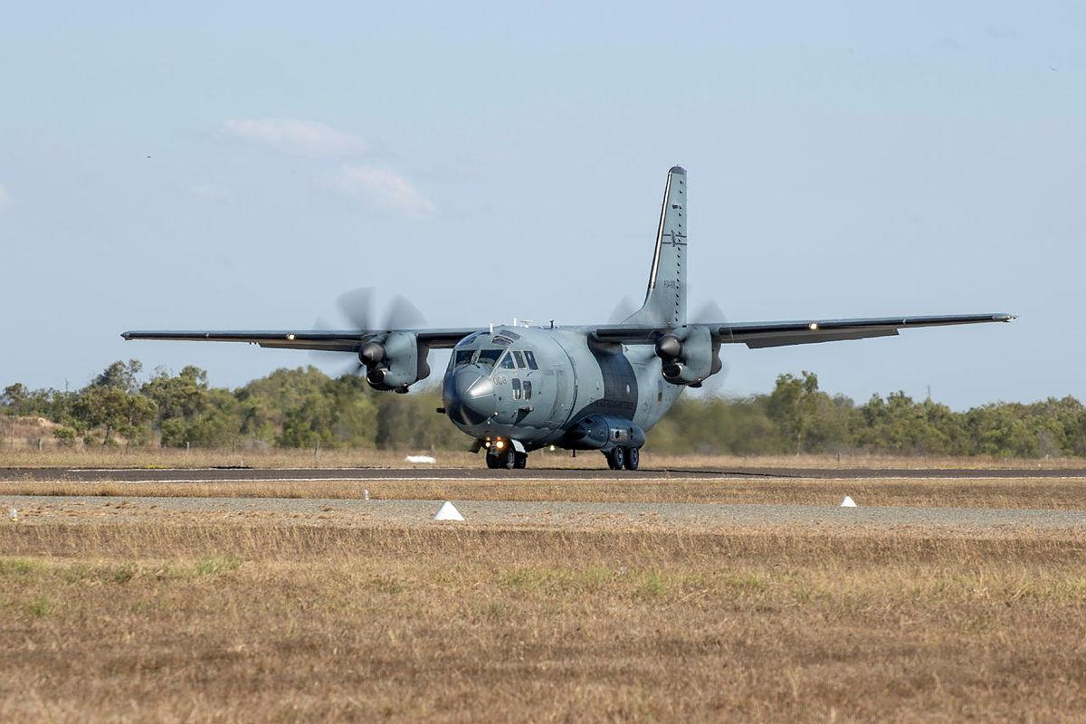 An Air Force C-27J Spartan aircraft during Exercise Talisman Sabre 2021. Photo: Leading Aircraftwoman Jacqueline Forrester