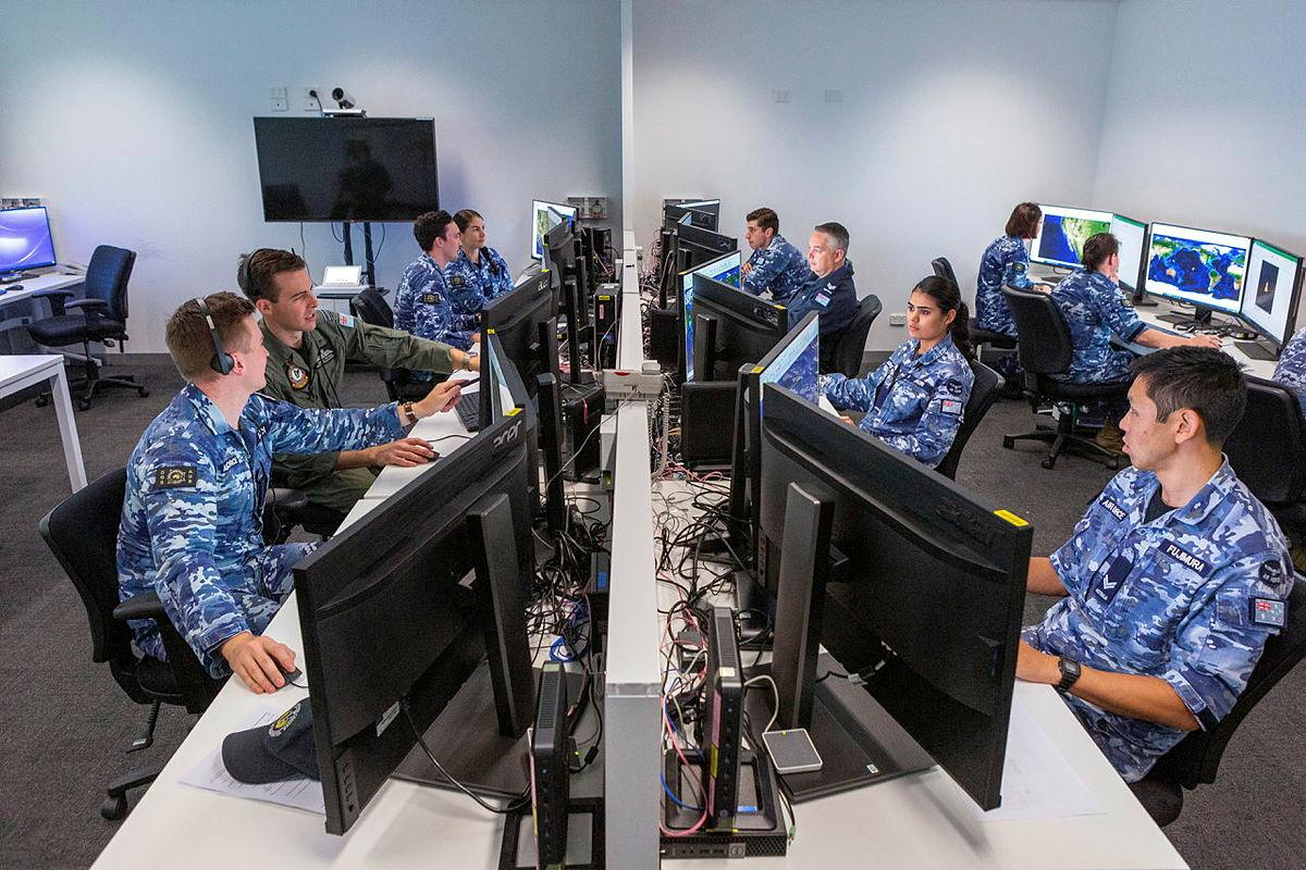 Air Force members of Distributed Ground Station – Australia at work in the lead-up to last year's virtual Exercise Coalition Virtual Flag. Artificial intelligence is set to help intelligence analysts. Photo: Leading Aircraftwoman Jacqueline Forrester