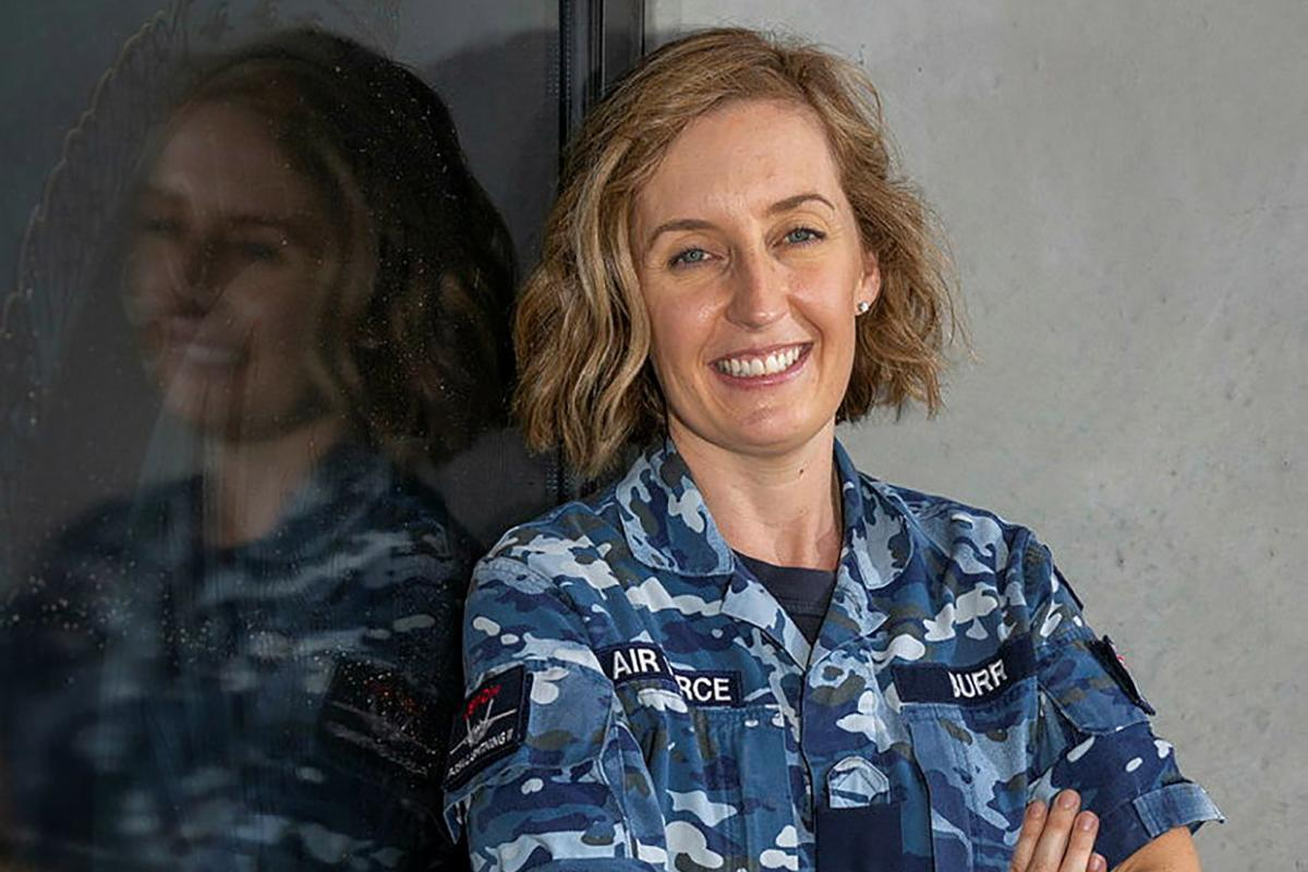 Squadron Leader Louise Burr is a finalist in the Australian Defence Magazine 2021 Women in Defence Awards. Photo: Sergeant David Gibbs