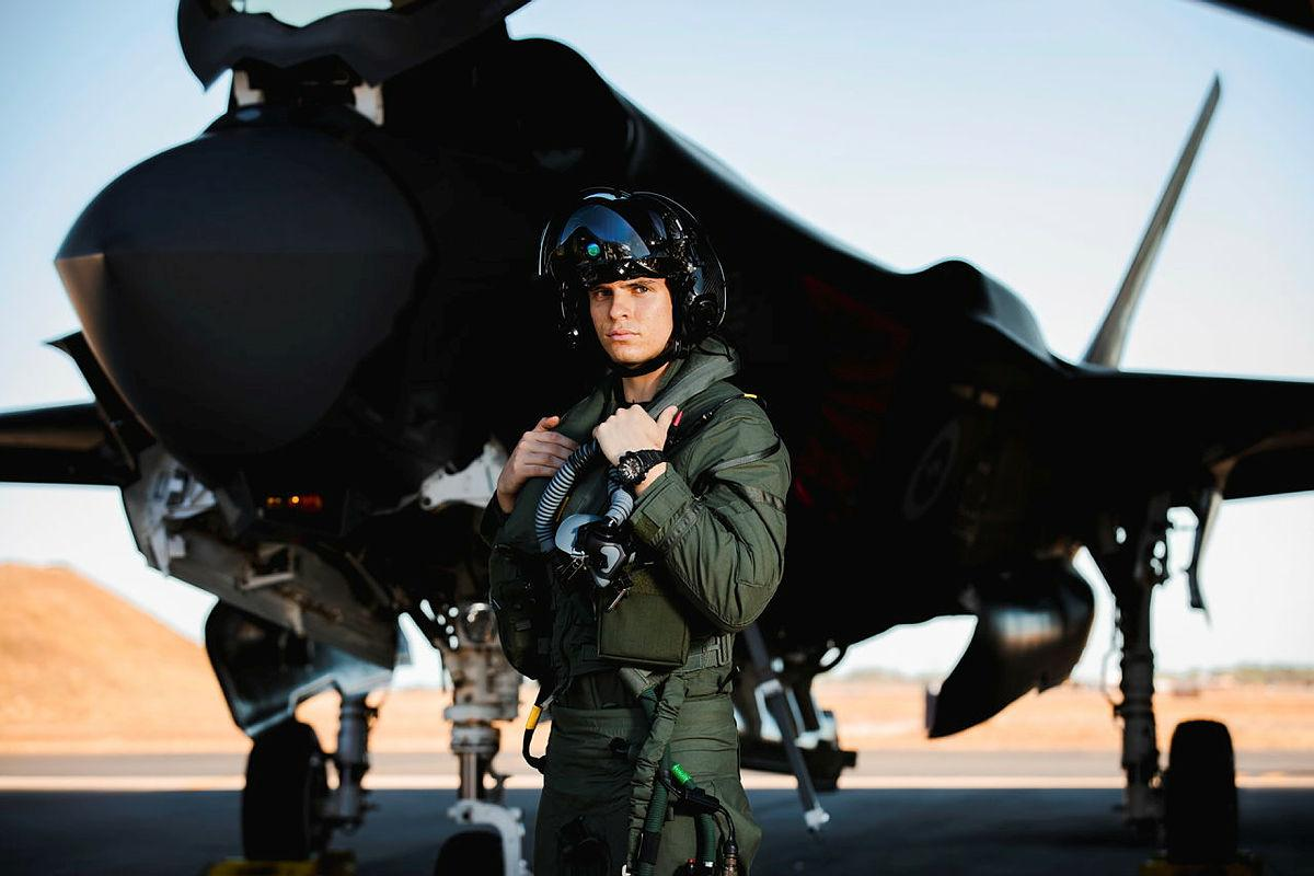 Pilot Officer Dirk was one of the pilots who completed the first operational conversion course conducted in Australia for the F-35A Lightning II during Exercise Rogue Ambush. Photo: Leading Aircraftman Adam Abela