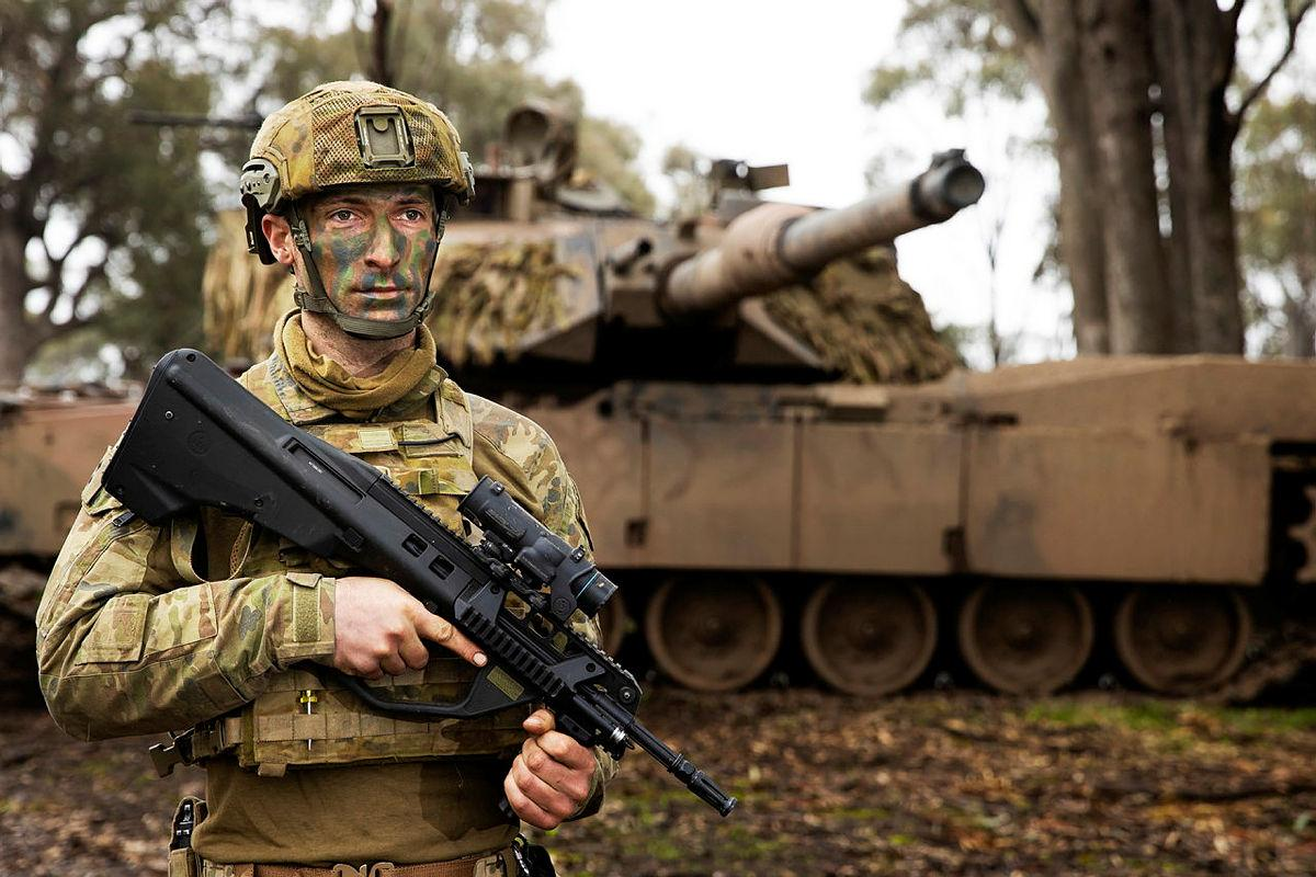 Lieutenant Levi Ross on Exercise Gauntlet Strike at Puckapunyal Military Training Area, Victoria. Photo: Corporal Robert Whitmore