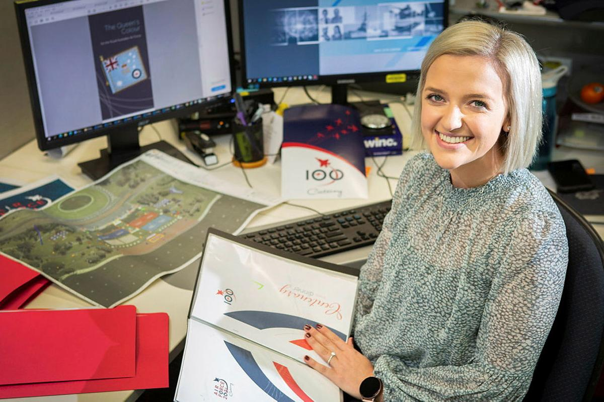 Deputy Director of Air Force Events Olivia Hannan has been awarded an industry scholarship. Photo: Sergeant Rob Hack