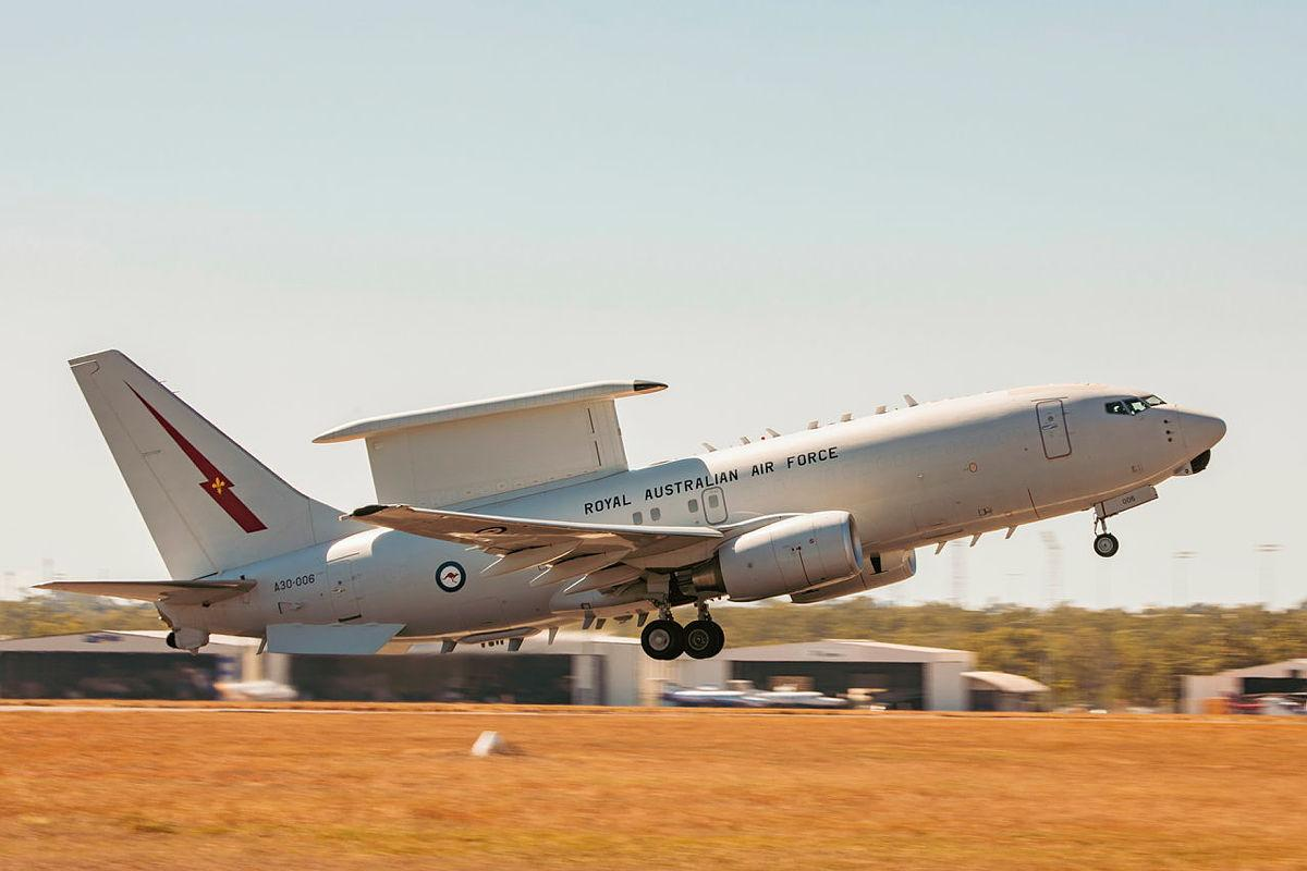 E-7A Wedgetail aircraft A30-006, from No. 2 Squadron, takes off from RAAF Base Darwin during Exercise Rogue Ambush. Photo: Leading Aircraftman Adam Abela