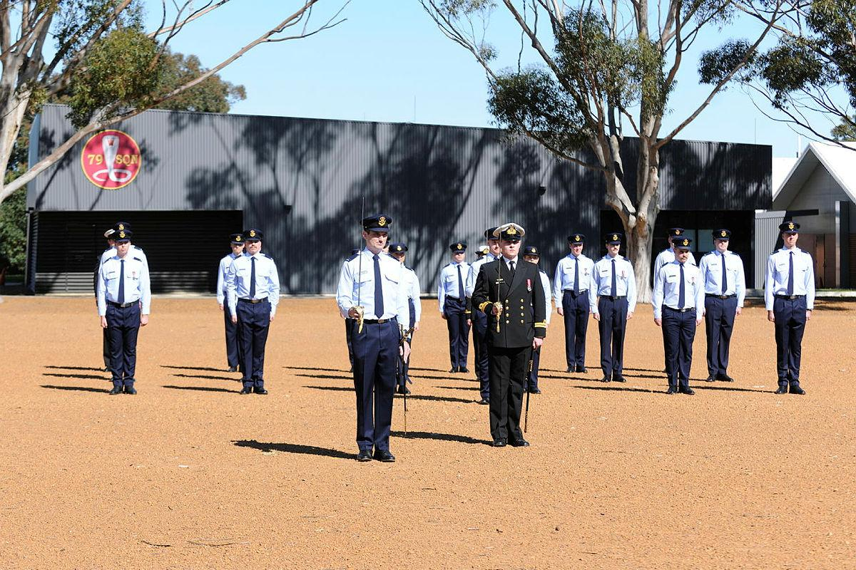 The No. 262 PC-21 Australian Defence Force Pilots Course on parade for their graduation. Photo: Chris Kershaw
