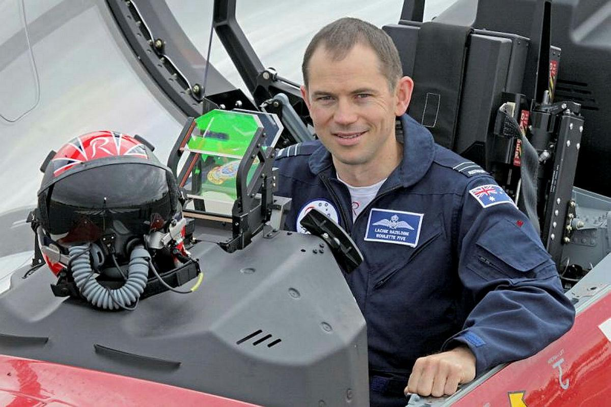 Flight Lieutenant Lachie Hazeldine, aka Roulette Five, has retired as one of the longest-serving members of The Roulettes after nine seasons.