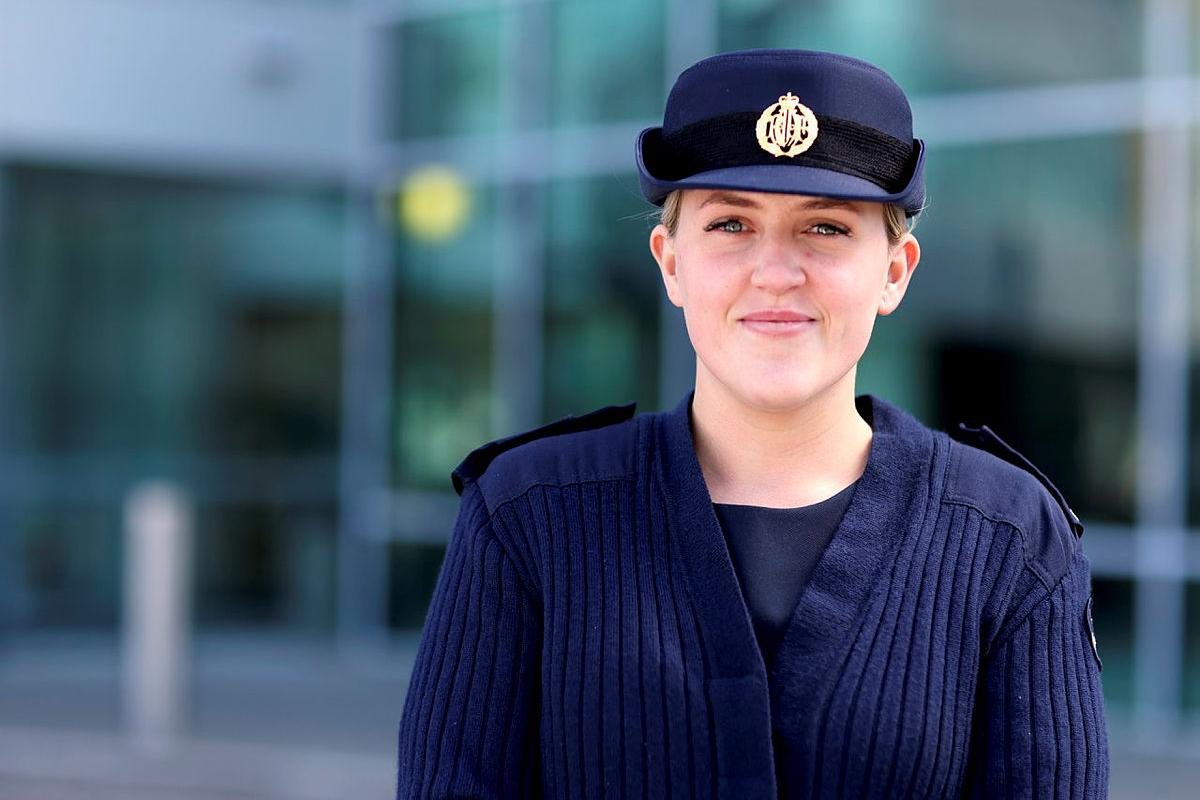 Aircraftwoman Jess Swan at Directorate of Personnel – Air Force, PERS-Branch where she works as a personnel capability specialist. Photo: Dion Isaacson