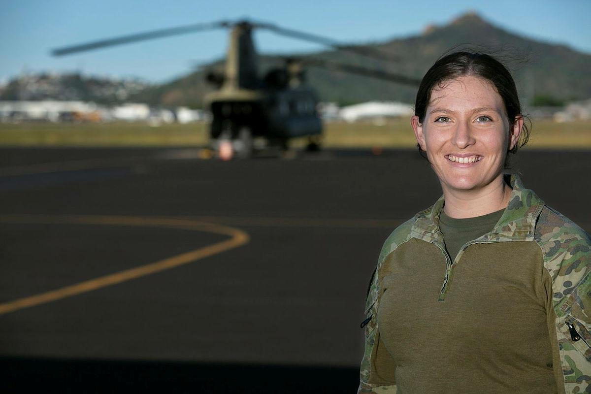 Lieutenant Jaime Spragge is a CH-47F Chinook heavy lift helicopter pilot with the 5th Aviation Regiment based at RAAF Base Townsville. Photo: Corporal Veronica O'Hara