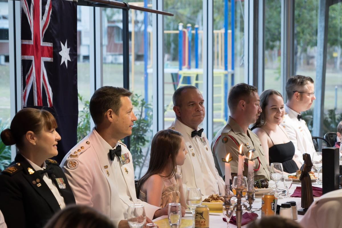 The 10th Force Support Battalion held a family dining-in night on September 21.