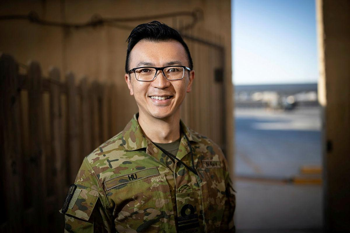 Navy medical officer Lieutenant Commander Lin Hu is an anaesthetist with the Australian Surgical Team at the Baghdad Diplomatic Support Centre in Iraq. Photo: Sergeant Glen McCarthy
