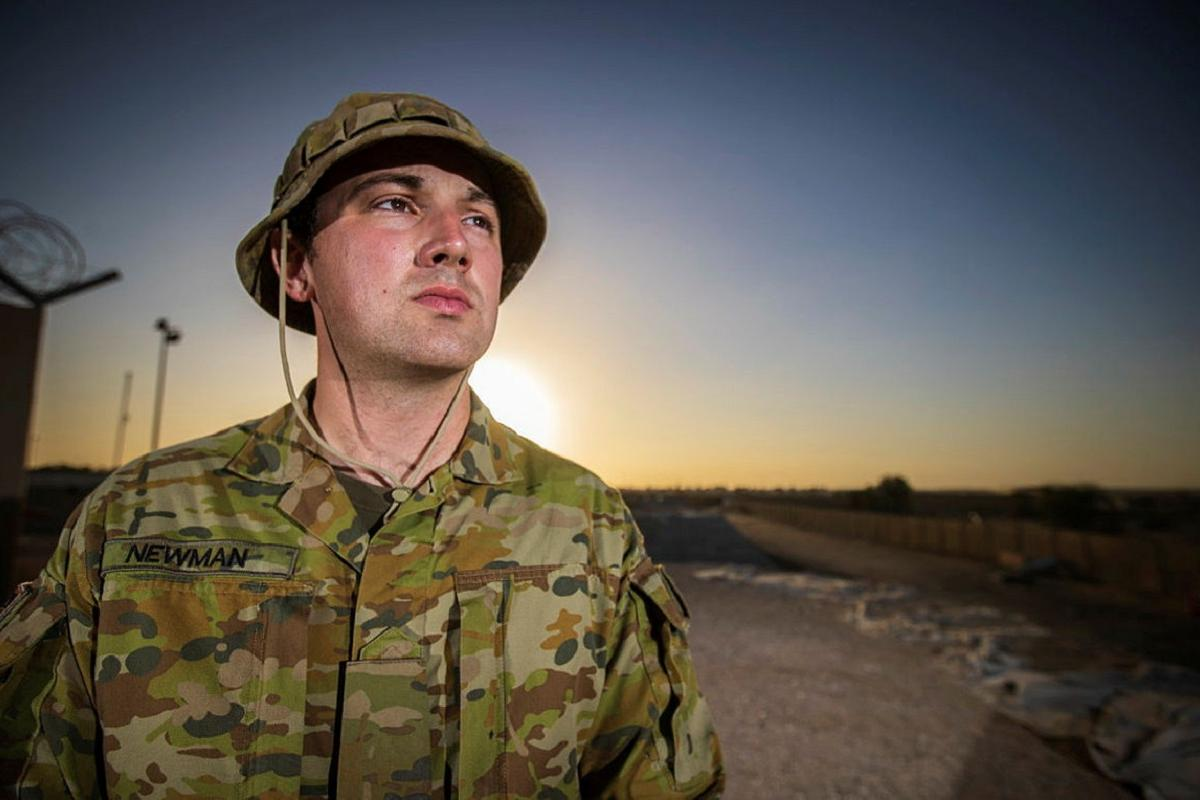 Private Daniel Newman is deployed to the Middle East region. Photo: Sergeant Glen McCarthy