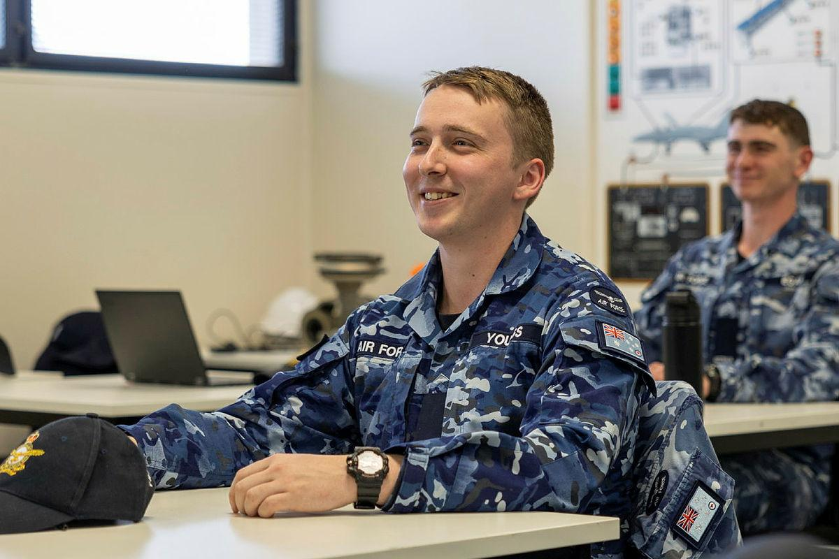 Aircraftman Haydon Youngs is studying aircraft systems and components at the RAAF School of Technical Training, Wagga. Photo: Corporal Kirbee Forrest
